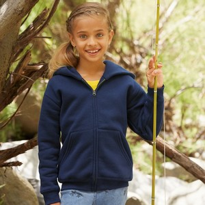 FRUIT OF THE LOOM PREMIUM KIDS ZIP HOODED SWEAT JACKET