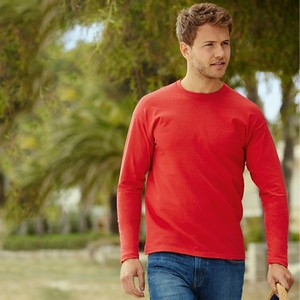 FRUIT OF THE LOOM MENS VALUEWEIGHT LONG SLEEVE T-SHIRT