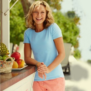 FRUIT OF THE LOOM LADY FIT CREW NECK T-SHIRT