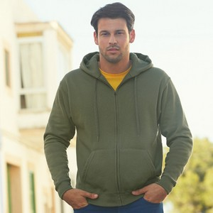 Fruit Of The Loom Premium Mens Zip Hooded Sweat Jacket