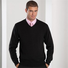 RUSSELL MENS V NECK KNITTED PULLOVER