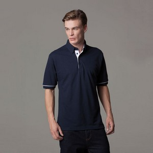 Kustom Kit Button Down Collar Contrast Polo