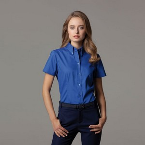 KUSTOM KIT LADIES PREMIUM OXFORD SHIRT SHORT SLEEVE