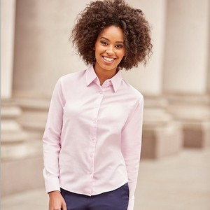 RUSSELL LADIES' LONG SLEEVE EASY CARE OXFORD SHIRT