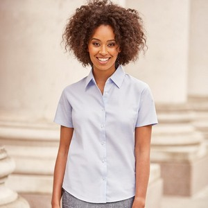 RUSSELL LADIES' SHORT SLEEVE EASY CARE OXFORD SHIRT
