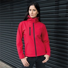 RESULT TX PERFORMANCE WOMENS HOODED SOFT SHELL JACKET