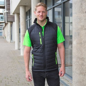 RESULT BLACK PADDED COMPASS SOFT SHELL GILET