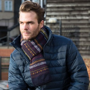 RESULT ARRAN HEAVY KNIT SCARF