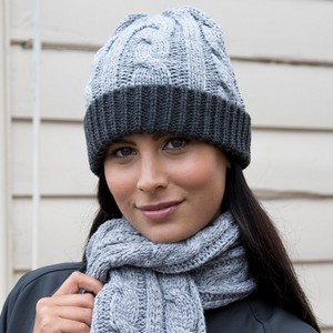 RESULT WINTER ESSENTIALS SHADES OF GREY KNITTED HAT