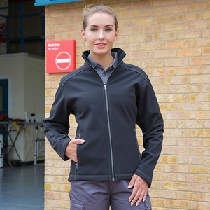 WORK-GUARD WOMENS TREBLE STITCH SOFTSHELL JACKET