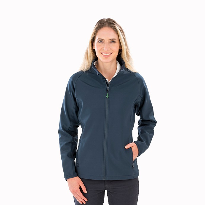 Result Genuine Recycled Womens Recycled 2-Layer Printable Softshell Jacket