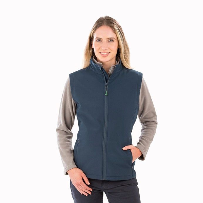 Result Genuine Recycled Womens Recycled 2-Layer Printable Softshell Bodywarmer