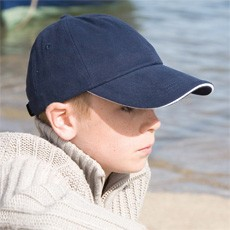 RESULT JUNIOR LOW PROFILE HEAVY BRUSHED COTTON CAP WITH SANDWICH PEAK