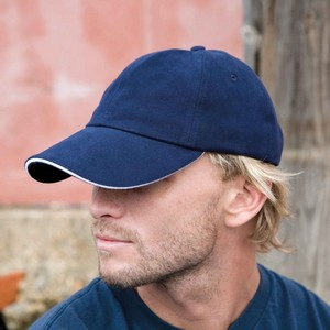 Result Headwear Memphis Brushed Cotton Low Profile Sandwich Peak Cap