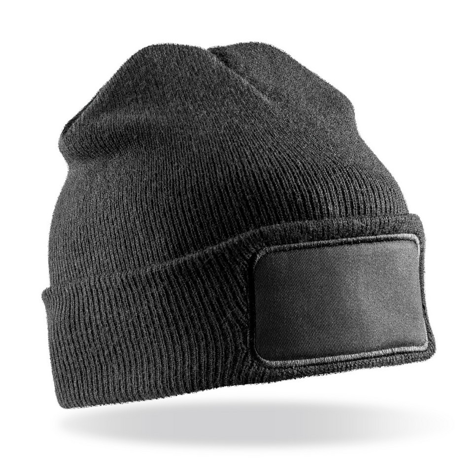 Result Genuine Recycled Double Knit Printers Beanie