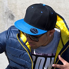 Result Bronx Original Flat Peak Snap Back Dual Colour Cap