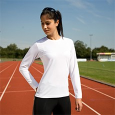 Spiro Womens Quick-Dry Long Sleeve T-shirt